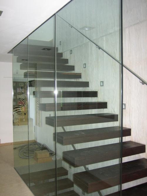 Corrimano in vetro per scale parapetto ballatoio con in vetro accoppiato temperato fissato al - Corrimano in vetro per scale ...